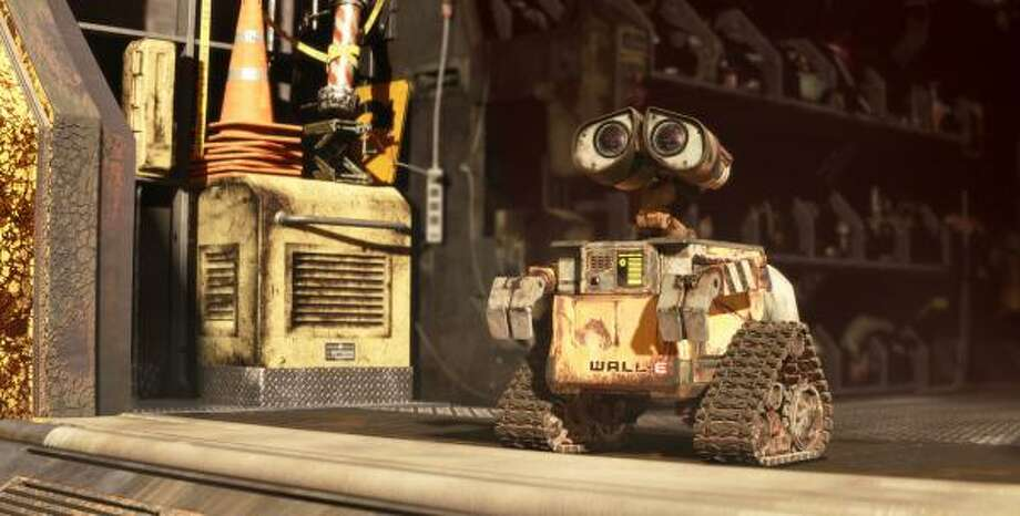 Wall-EA robot living on an abandoned earth collects trash and falls in love. Photo: Tzohr, AP
