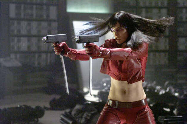 UltravioletInfected by a virus, Violet (Milla Jovovich) fights against the government in a future world where genetically modified superhumans are on the brink of battle with the rest of the population. Photo: Jay Maidment