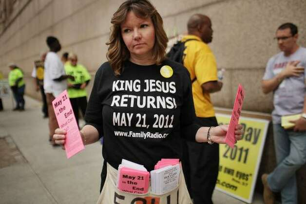 The BibleChristians led by pastor and radio host Harold Camping believed the world would end May 21, according to complex calculations and dating based on scriptural accounts. He was wrong. Photo: Spencer Platt, Getty