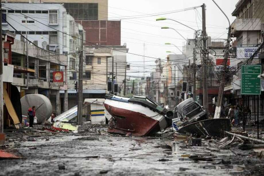 "EarthquakeThere was also that the 8.8 magnitude one in Chile in February. In the Gospel of Mark, it reads ""Nation will rise against nation, and kingdom against kingdom. There will be earthquakes in various places and famines. These are the beginning of birth pains.""  Photo: Natacha Pisarenko, AP"