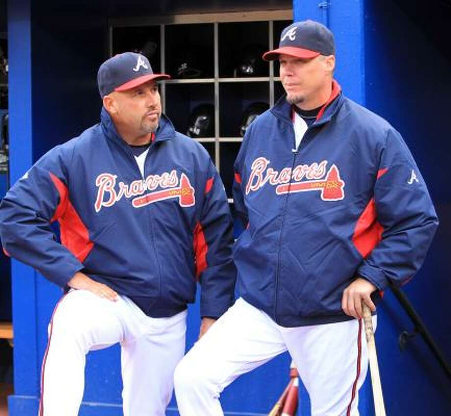 May 16: Braves 3, Astros 2    Atlanta Braves third baseman Chipper Jones (right)has a small meniscus tear in his right knee. Photo: Curtis Compton, McClatchy-Tribune News Service