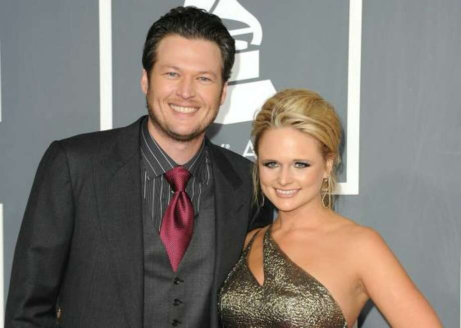 Young country stars Blake Shelton and Miranda Lambert tied the knot in the Texas Hill Country this weekend. Photo: Jason Merritt, Getty Images
