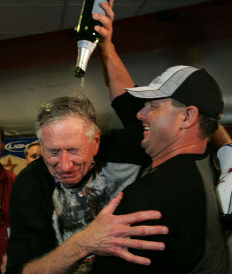 The Astros advanced to their first World Series, beating St. Louis in six games in the 2005 NLCS before being swept by the White Sox. Photo: BRETT COOMER, CHRONICLE