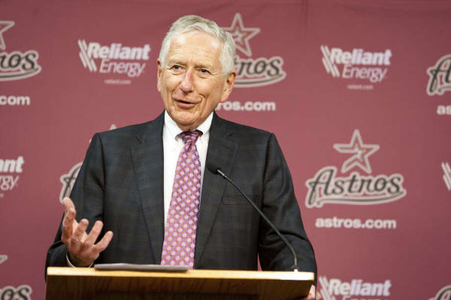 Drayton McLane announced his intention to sell the Astros last November. Photo: Nick De La Torre, Chronicle