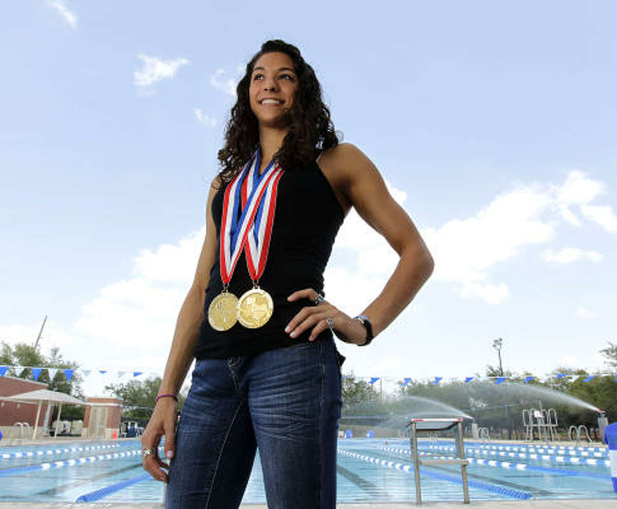 Girls Swimmer of the Year Maddie Locus, Dulles