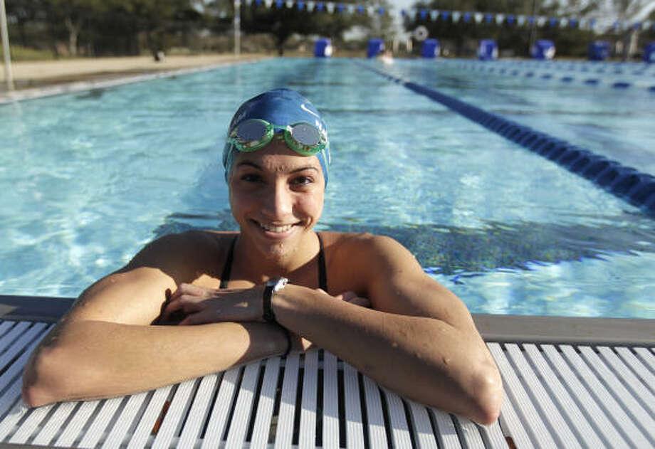 Class 5A girls 100-yard freestyle  Maddie Locus, Dulles Photo: Karen Warren, Chronicle