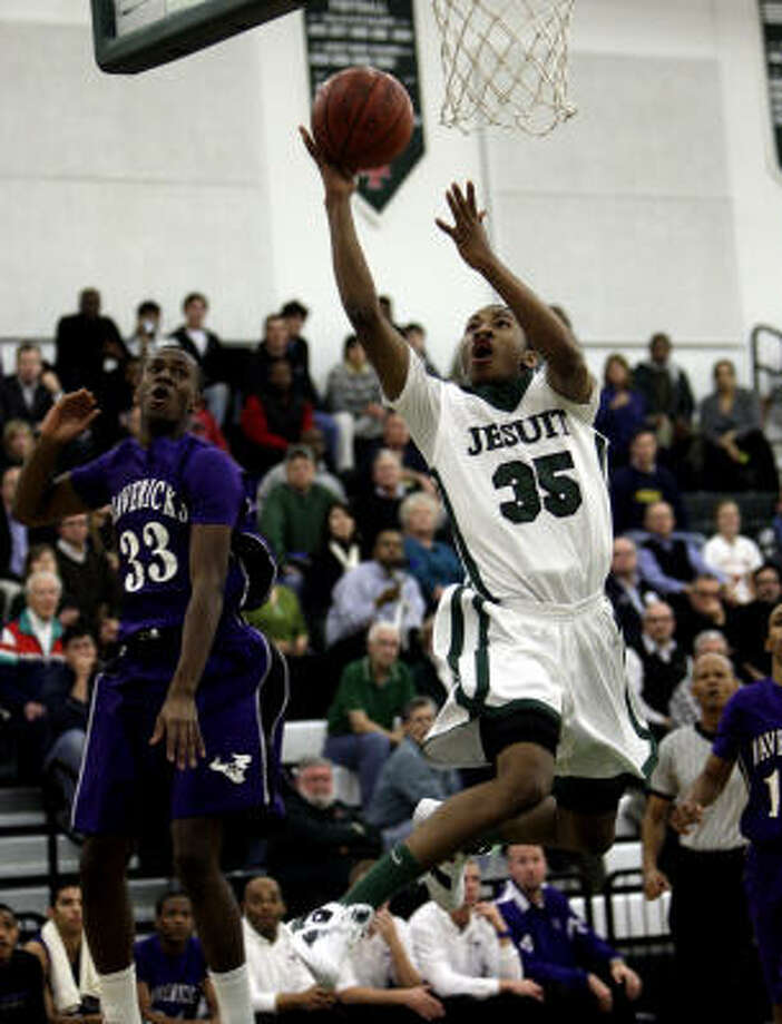 Rasheed SulaimonJr., G, Strake JesuitSulaimon led the Crusaders to the District 19-5A title with his 21.3 points, 2.6 assists and 2 steals per game. The junior is verbally committed to Duke. Photo: Bob Levey, For The Houston Chronicle