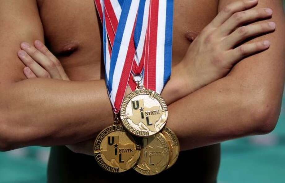 Class 5A boys 100-yard backstroke  Jonathan Edwards, Cypress Creek Photo: Billy Smith II, Chronicle