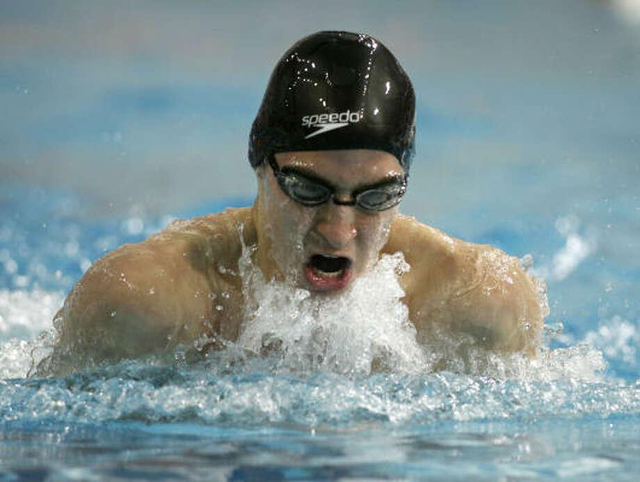 Class 5A boys 100-yard breaststroke  Jordan Jones, Kingwood Photo: Erich Schlegel, For The Chronicle