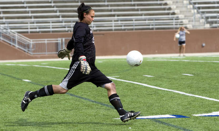 First TeamKylie HambletonJr, GK, Seven LakesOne of the best defenders in the state, Hambleton helped lead Seven Lakes to the Region III title match. Photo: Brett Coomer, Chronicle