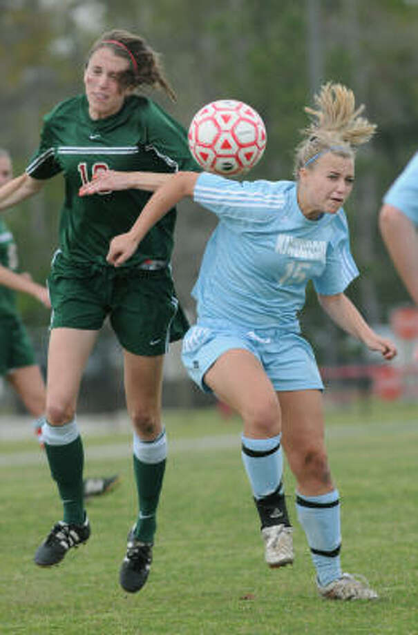 Kaisa MarshallSr, MF/F, KingwoodMarshall averaged one goal per game this season for the Mustangs, finishing with 25, and will play Division I soccer at Memphis next season. Photo: Jerry Baker, For The Chronicle