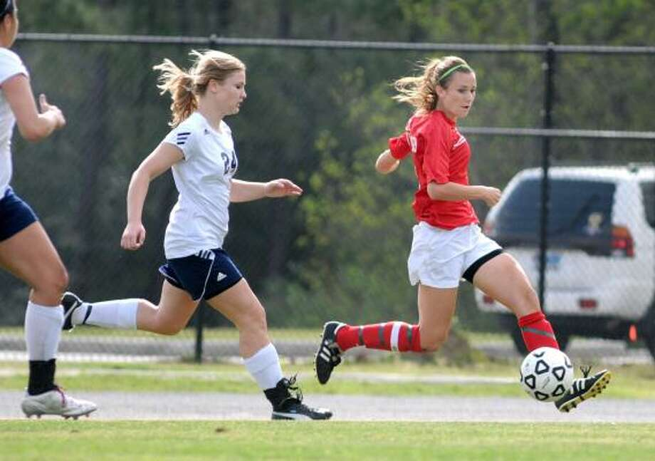 Emily TaylorJr, F, The WoodlandsThe junior led the Highlanders with 22 goals and 11 assists this season. She was named the offensive MVP for District 14-5A. Photo: Jerry Baker, For The Chronicle