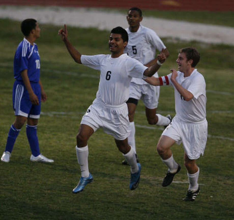 Second team     Junior Pedraza (6)    Sr., MF/F, Klein Oak  Photo: Julio Cortez, Chronicle File