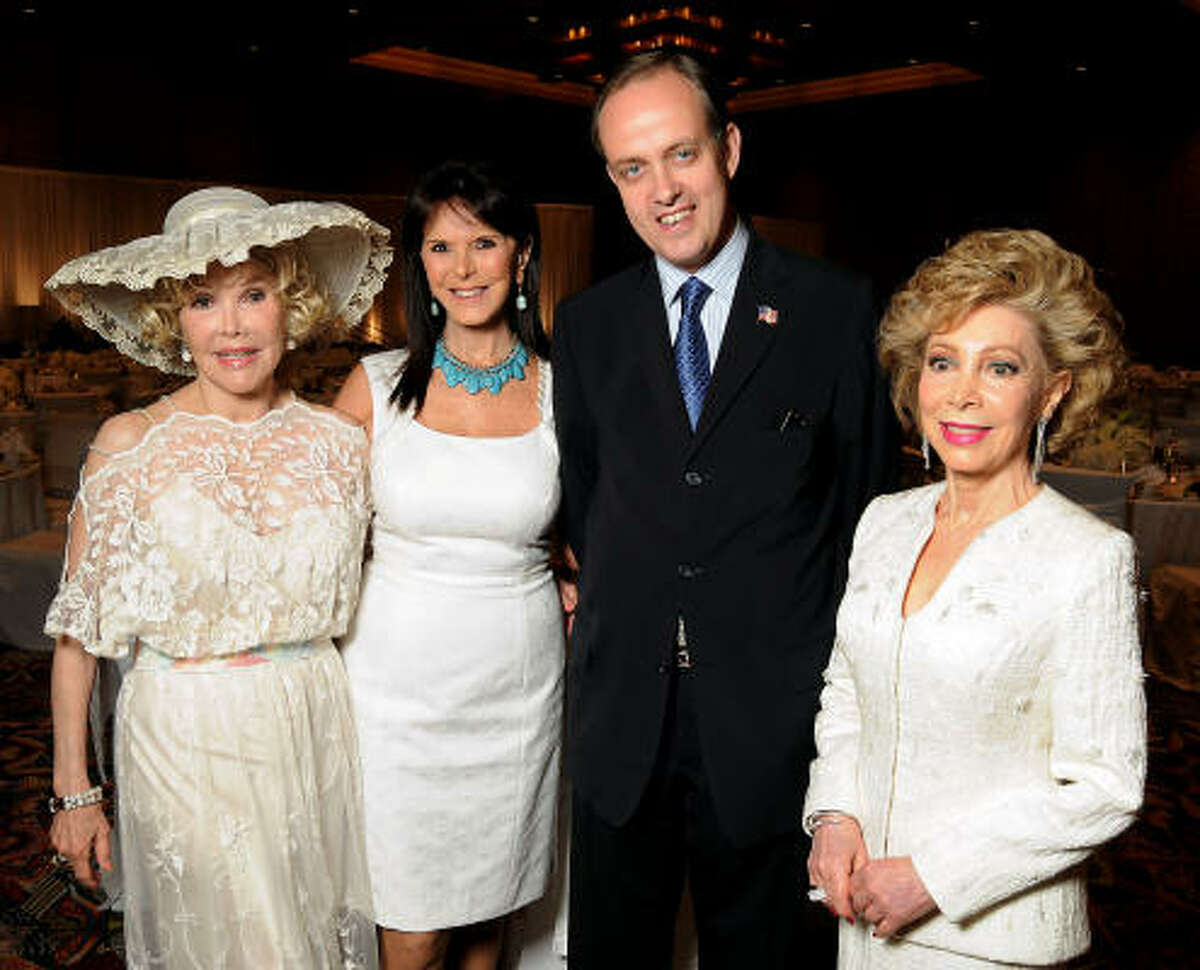 From left: Joanne King Herring, chair Connie Reeves Cooke, Prince Jean de France, and honoree Margaret Alkek Williams