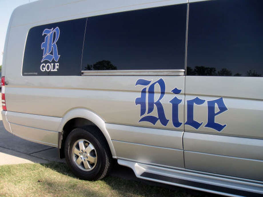 The cruiser can seat nine golf members comfortably, according to head coach Drew Scott. Photo: Joseph Duarte, Chronicle