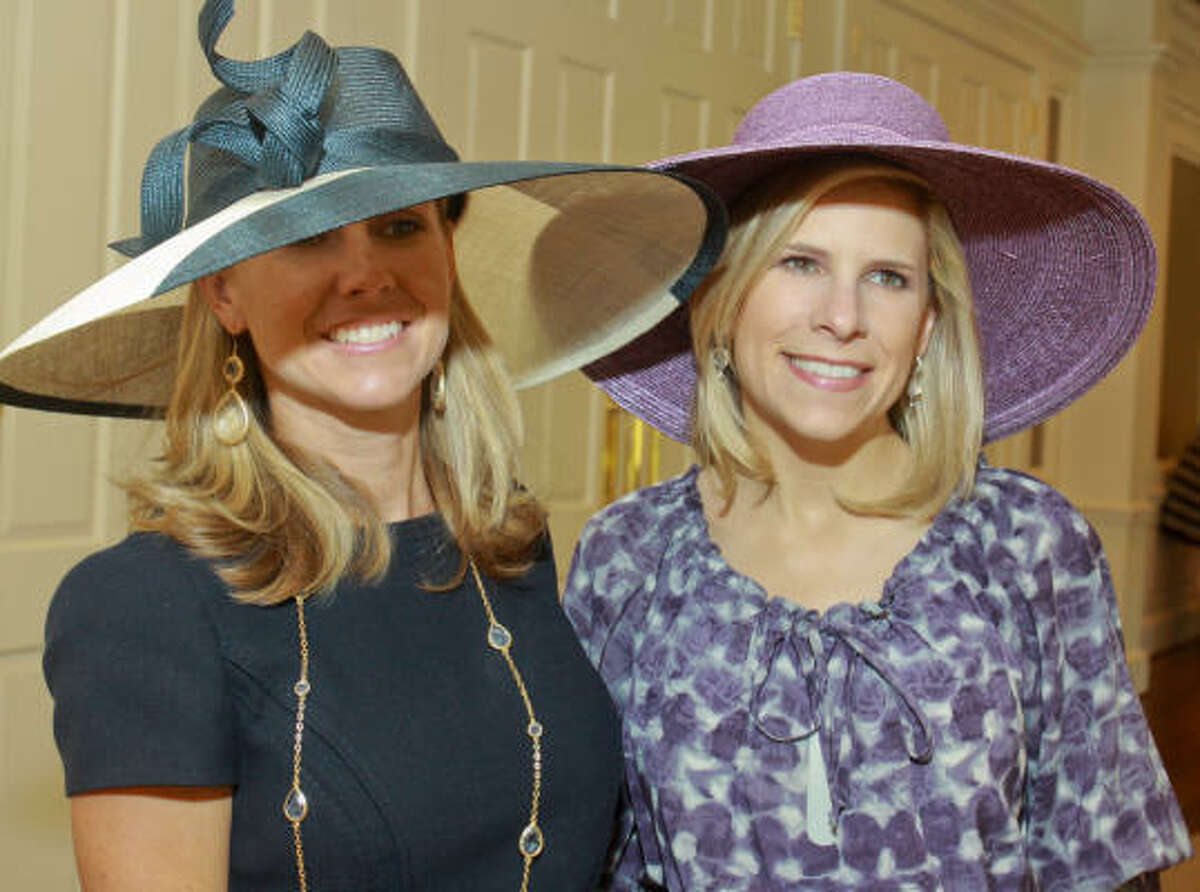 (For the Chronicle/Gary Fountain, March 31, 2011) Natalie Horlock, left, and Alicia Garrison at the Hats Off to Mothers Luncheon.