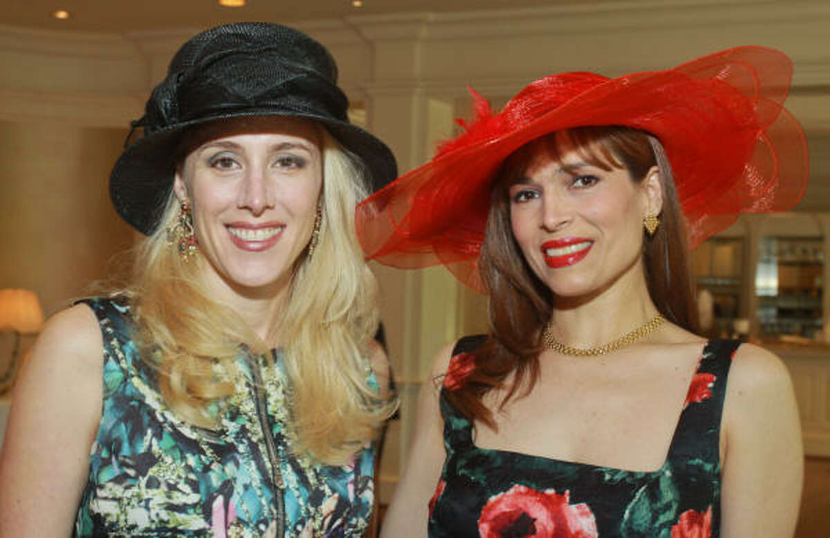 (For the Chronicle/Gary Fountain, March 31, 2011) Christie Sullivan, left, and Karina Barbieri at the Hats Off to Mothers Luncheon.