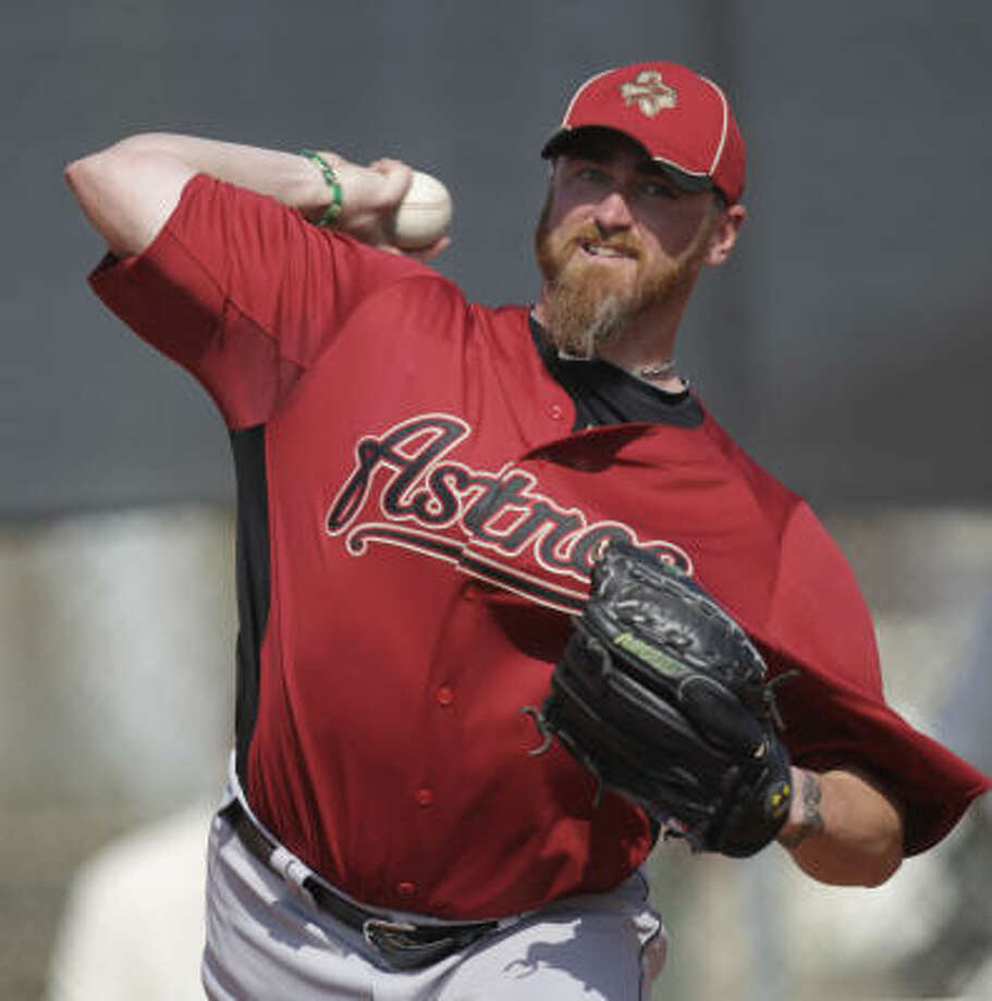 STARTERSRHP Brett MyersNo.: 39Age: 30Ht./wt.: 6-4/240How acquired: Signed as a free agent, January 20102010 stats: 33 GS, 14-8, 3.14 ERA, 66 BB, 180 KWhat he brings: The ace of the staff, Myers is a durable innings-eater with the talent to make the most of those innings. Photo: Karen Warren, Chronicle