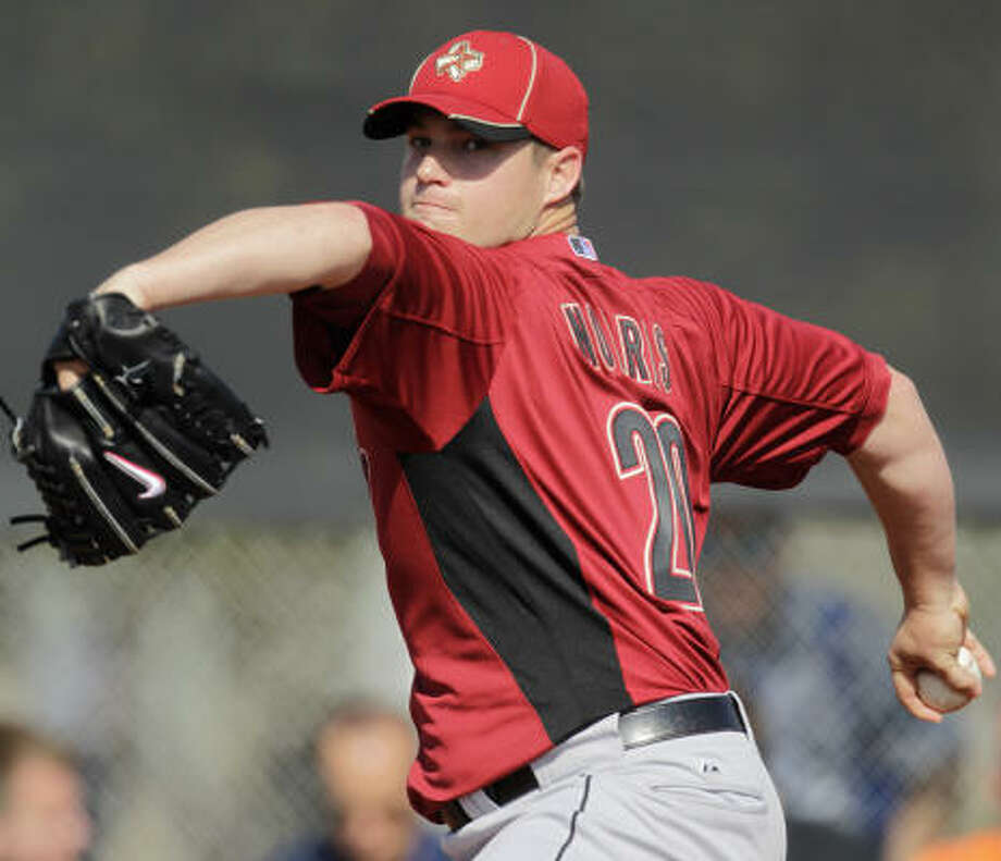 STARTERSRHP Bud NorrisNo.: 20Age: 26Ht./wt.: 6-0/220How acquired: Selected in 2006 draft, Round 62010 stats: 27 GS, 9-10, 4.92 ERA, 77 BB, 158 KWhat he brings: Norris has some of the best raw stuff on the staff, good fastball, good slider, improving change. If he ever puts it all together... Photo: Karen Warren, Chronicle