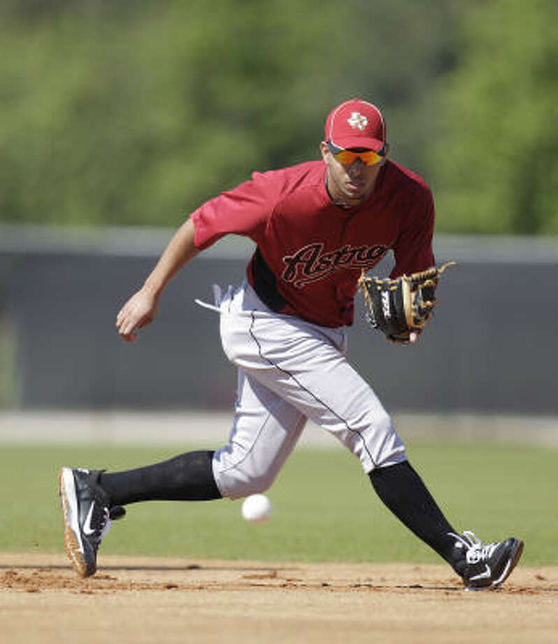 INFIELDERSSS Angel SanchezNo.: 36Age: 27Bats/Throws: Right/RightHt./wt.: 6-1/200How acquired: Traded from Boston for Kevin Cash, July 20102010 stats (Red Sox/Astros): 66 G, .277 BA, .312 OBP, .344 SLG, 0 HR, 25 RBIWhat he brings: Provides a good average with little in the way of power or speed. Not an ideal option at the shortstop position defensively, but was very serviceable and stepped right in last year. Photo: Karen Warren, Chronicle