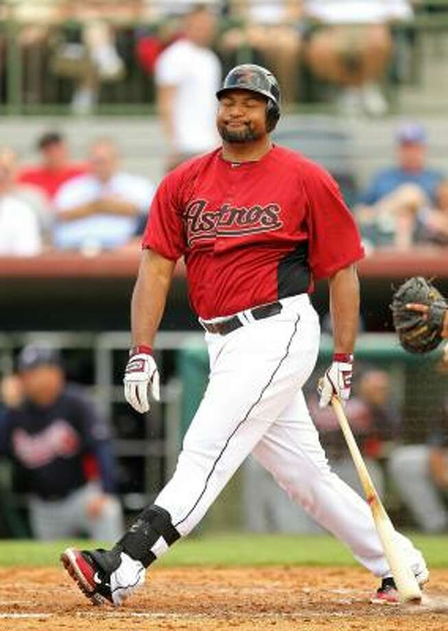 OUTFIELDERS LF Carlos Lee No.: 45 Age: 34 Bats/Throws: Right/Right Ht./wt.: 6-2/265 How acquired: Signed as a free agent, November 2006  2010 stats: 157 G, .246 BA, .291 OBP, .417 SLG, 24 HR, 89 RBI What he brings: The profile of a two-tool player in decline. Lee is still capable of a big year and a rebound will be vital, but he doesn't have any other skills to offset another down year offensively. Photo: Mike Ehrmann, Getty Images