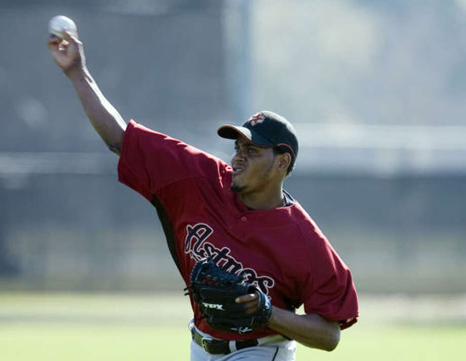 DISABLED LIST RHP Alberto Arias No.: 50 Age: 27 Ht./wt.: 5-11/180 How acquired: Claimed off waivers from Colorado, July 2008 2010 stats: Did not play (shoulder) Injury: Right shoulder inflammation What he brings: He'll contend for a spot in the bullpen - and win it if he's in his 2009 form - perhaps as early as mid-April, but his recovery has been stalled at every step. Photo: James Nielsen, Chronicle