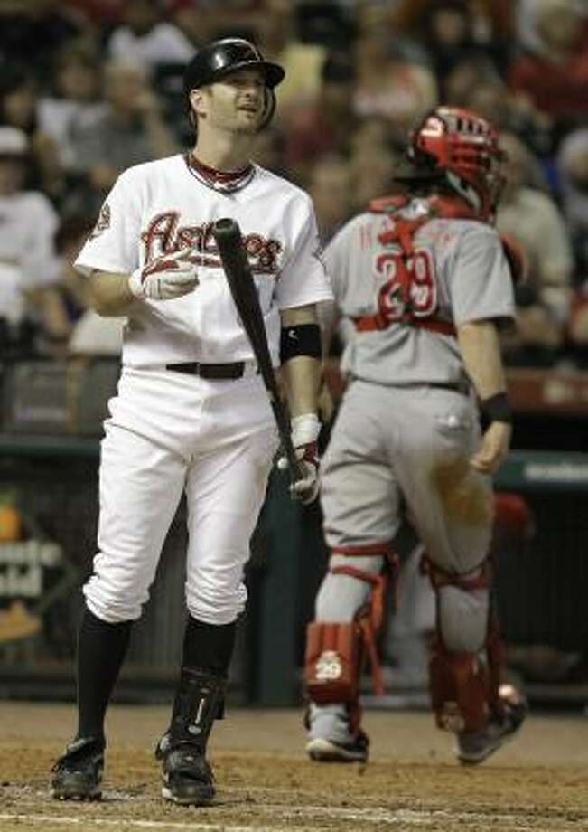 DISABLED LIST INF Jeff Keppinger No.: 8 Age: 30 Bats/Throws: Right/Right Ht./wt.: 6-0/185 How acquired: Traded from Cincinnati for Drew Sutton, March 2009 2010 stats: 137 G, .288 BA, .351 OBP, .393 SLG, 6 HR, 59 RBI Injury: Toe surgery to remove sesamoid bone What he brings: Ability to play second base, shortstop or third base and be one of the best contact hitters when he returns in May. It will be off the bench, though, as the Astros went a power route with Bill Hall and Clint Barmes. Photo: Pat Sullivan, AP