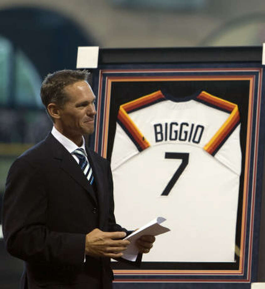 2B Craig Biggio / Retired after 2007 / Astros special assistant to the GM Photo: James Nielsen, Chronicle