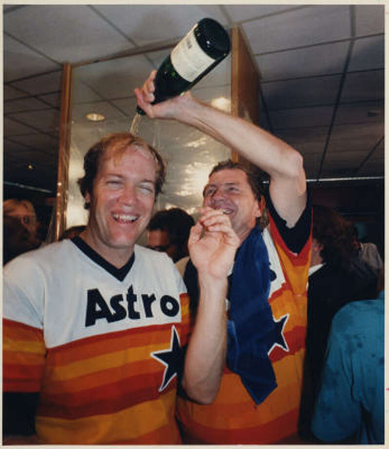 "Chip's pick All those are great, but can any moment in Astros' time top Mike Scott's 1986 no-hitter to clinch the division for Houston? Does it get any better than this?Thanks to Astros Daily for the link. I was actually ""there"", listening on radio as Gene Elston made the call. Photo: Houston Chronicle"