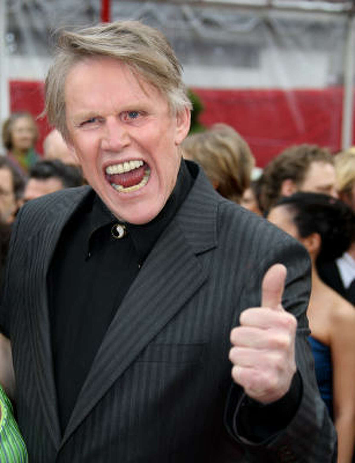 Where do we start with Gary Busey? There are the odd appearances on talk shows, the groping of Jennifer Garner on the red carpet of the Oscars, the interview of himself that he decides to direct ...