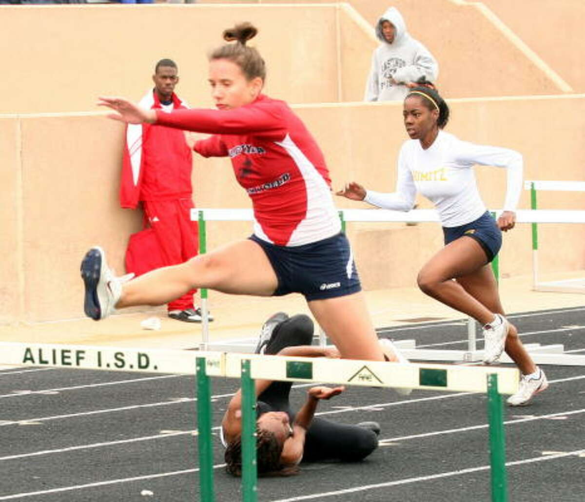 Not all hurdlers had a good day.