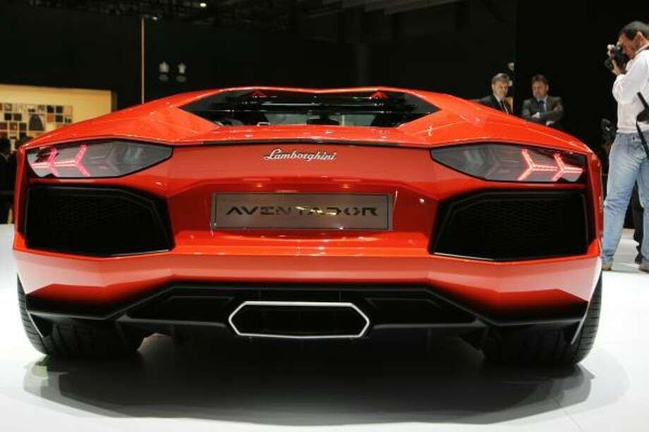 A Lamborghini Aventador is displayed at the carmaker's booth on March 2, 2011 during the Geneva Motor Show in Geneva. Photo: SEBASTIAN DERUNGS, AFP/Getty Images