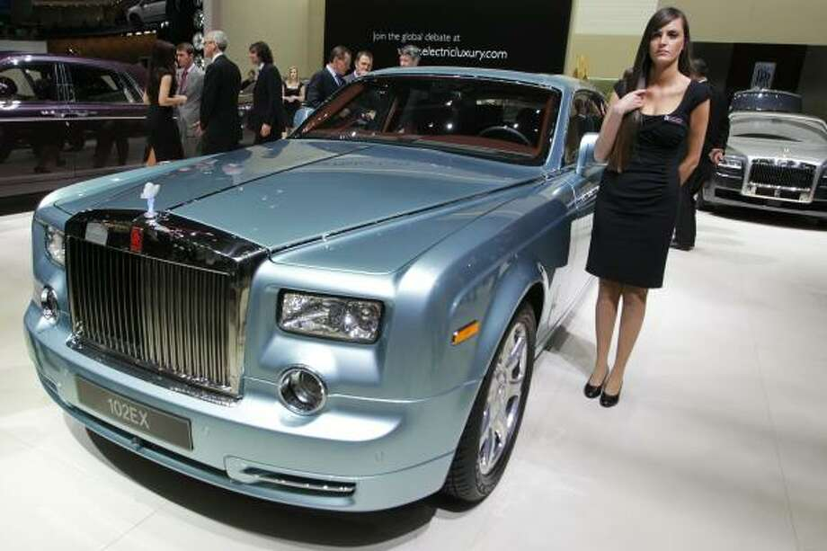 Rolls Royce Hybrid car during the Geneva car show on March 1, 2011 in Geneva. Photo: SEBASTIAN DERUNGS, AFP/Getty Images