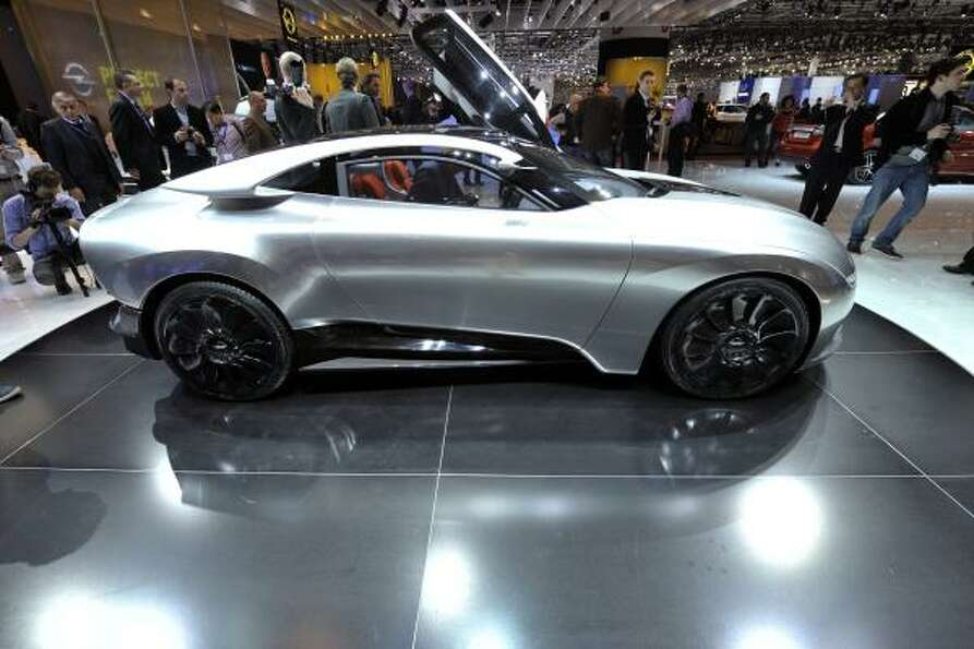 The new Saab Phoenix concept car is shown during the press day at the 81st Geneva International Moto