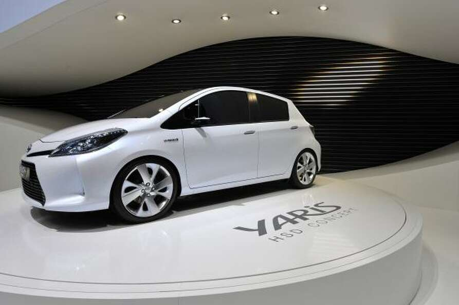 The new Toyota Yaris S Hybrid Concept car  is shown during the press day at the 81st Geneva Internat