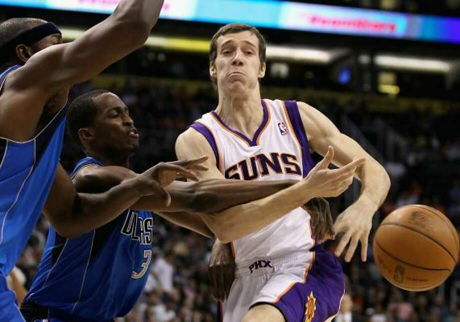 Goran Dragic, guard Dragic, right, was drafted by the Phoenix Suns in the second round of the 2008 draft. He has averaged 6.7 points and 2.7 assists in two-plus seasons. Photo: Christian Petersen, Getty Images