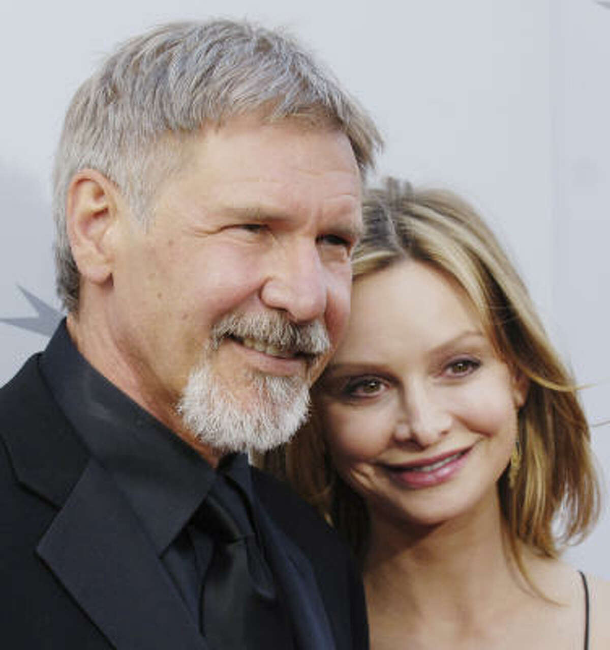Han no longer flies solo. Harrison Ford, and Calista Flockhart finally tied the knot, in a wedding presided over by New Mexico's governor. Ford is 22 years older than his Mrs.