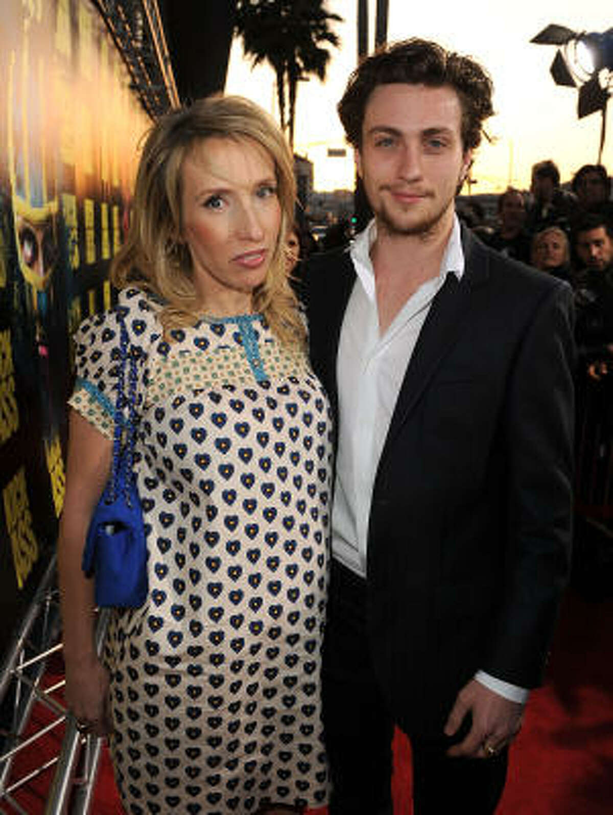 Actor Aaron Johnson, 21, became known for his role as the title character in the comic book movie Kick-Ass. He also gained notoriety for his relationship with fiancee Sam Taylor Wood , 44. The couple has a daughter.