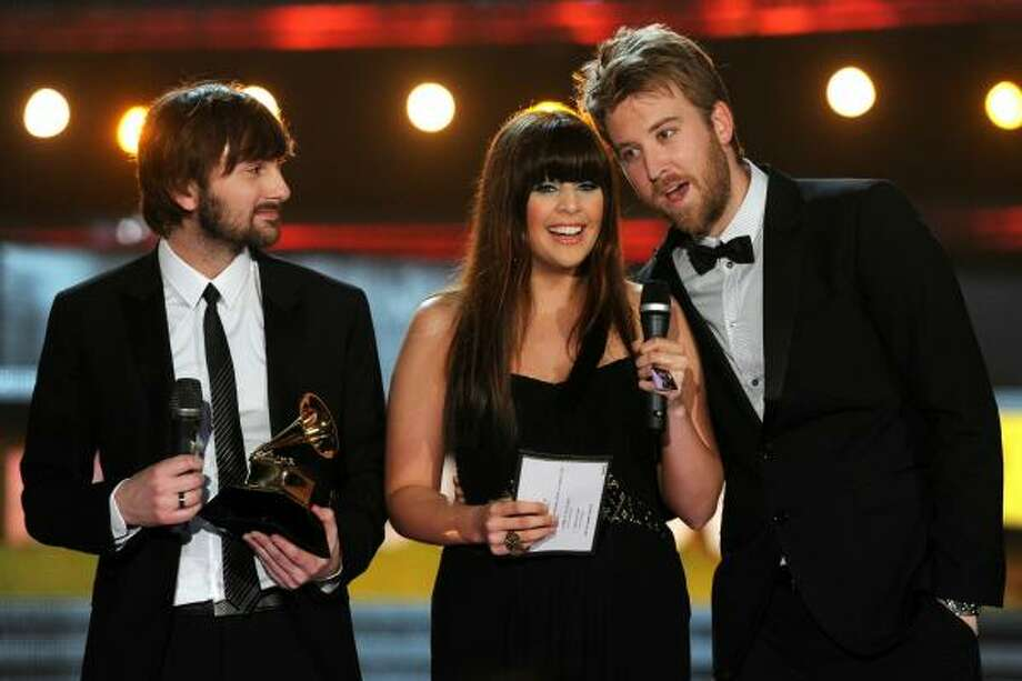 Lady Antebellum Record of the Year, Song of the Year, Best Country Song, Best Country Performance By a Duo or Group with Vocals, Best Country Album Photo: Kevin Winter, Getty Images