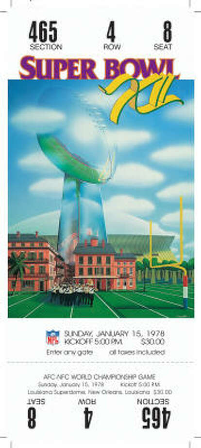 Super Bowl XIIDate:Jan. 15, 1978  Location: Superdome, New Orleans  Result: Dallas 27, Denver 10 Price: $30 Photo: NFL