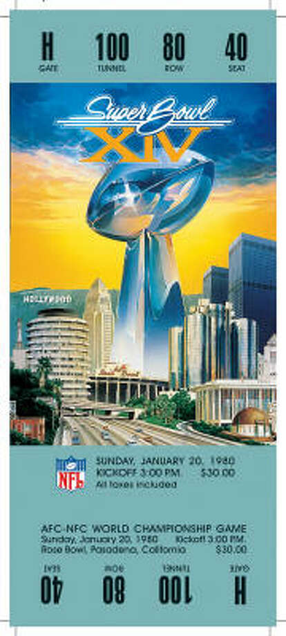 Super Bowl XIVDate:Jan. 20, 1980  Location: Rose Bowl, Pasadena, Calif.  Result: Pittsburgh 31, Los Angeles Rams 19  Price: $30 Photo: NFL