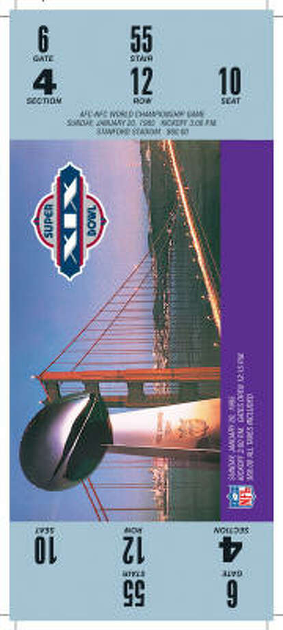 Super Bowl XIXDate:Jan. 20, 1985  Location: Stanford (Calif.) Stadium  Result: San Francisco 38, Miami 16  Price: $60 Photo: NFL