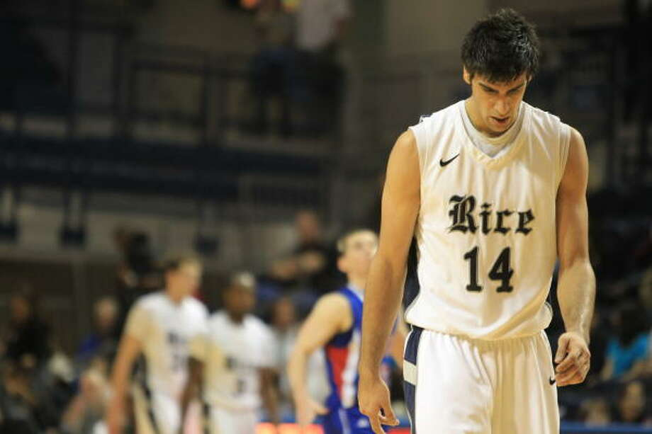 Jan. 29: SMU 75, Rice 68Rice forward Arsalan Kazemi had 21 points and 16 rebounds in Saturday's game against SMU, but it wasn't enough to extend the Owls' winning streak to three games. Photo: Nick De La Torre, Chronicle