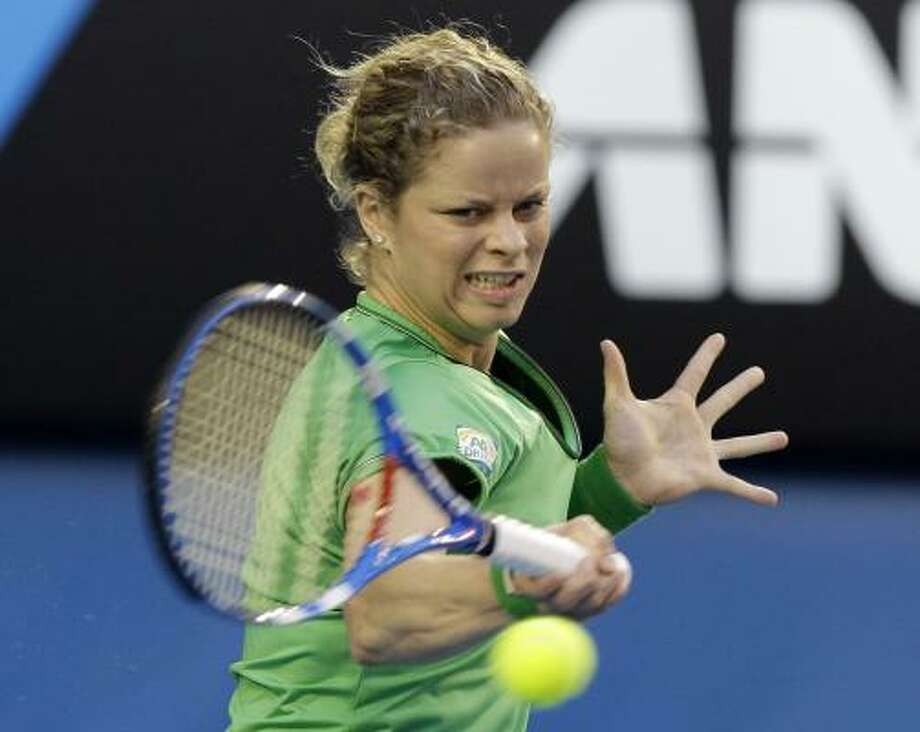 Kim Clijsters beat Li Na in Saturday's Australian Open final to claim her second straight Grand Slam title and the fourth of her career. Clijsters won 3-6, 6-3, 6-3. Photo: Shuji Kajiyama, AP