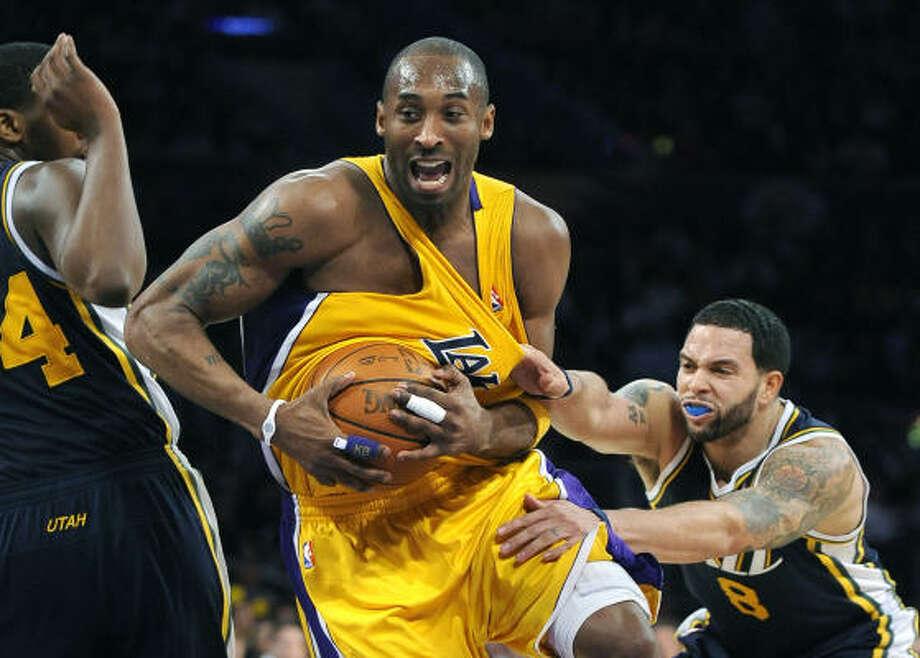 Western Conference Kobe Bryant, G, Los Angeles Lakers PPG: 24.9 RPG: 5.0 APG: 4.8 Photo: Wally Skalij, MCT