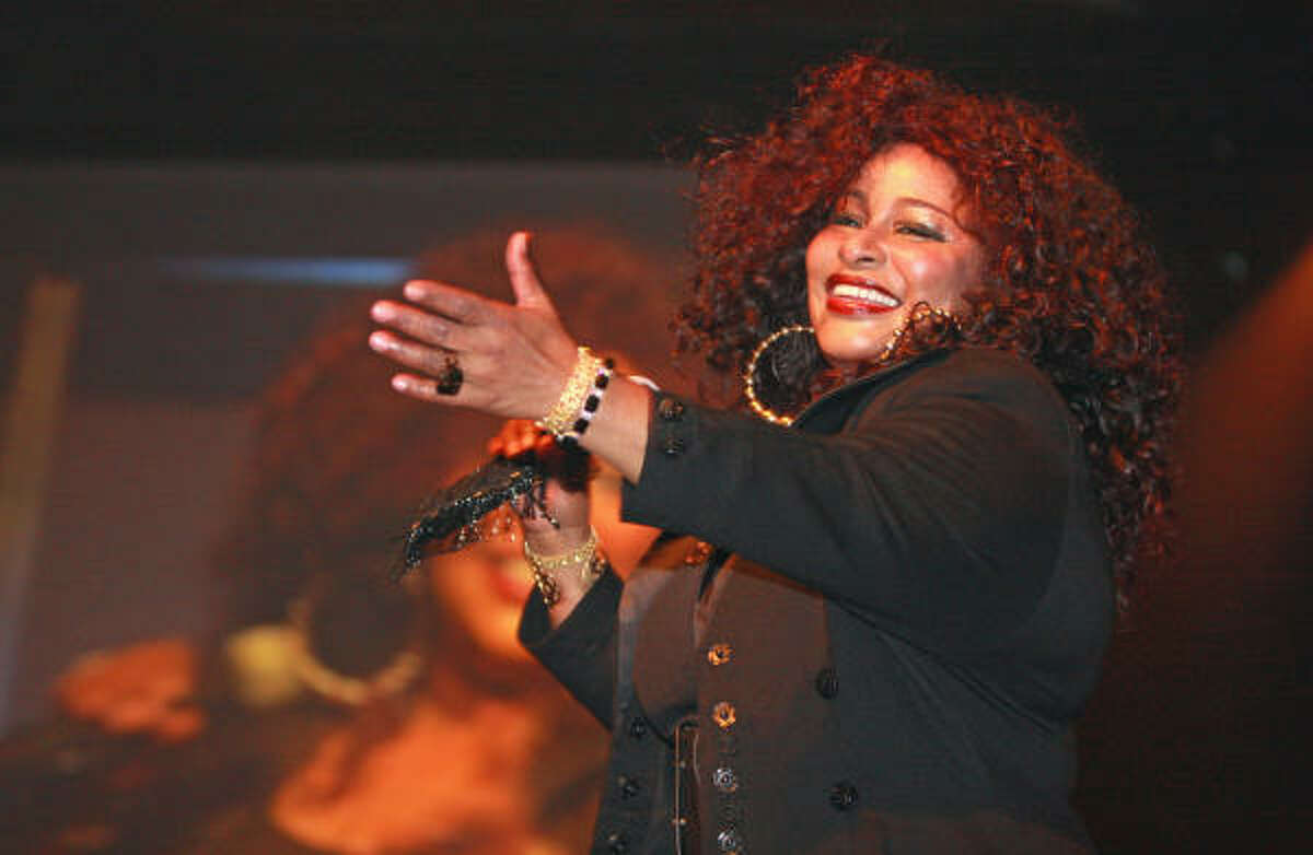Chaka Khan performing at the Cabaret For A Cure