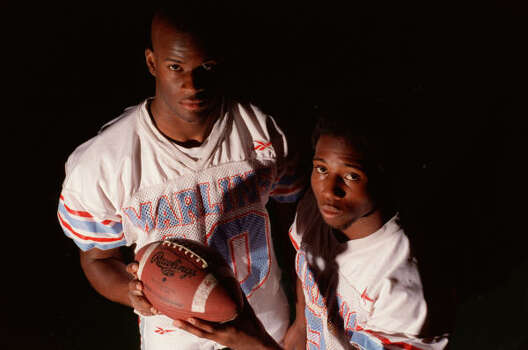 2001 Let's go back to where it all started. Vince Young, left, and Courtney Lewis were a potent offensive combination at Madison High School. Photo: Karen Warren, Chronicle