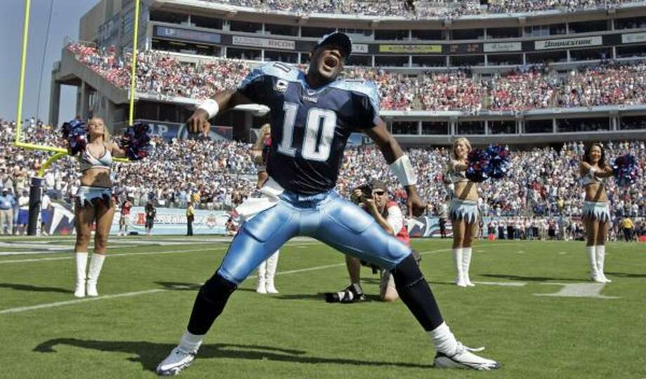 2006Drafted 3rd overall by the Titans, Vince Young was a fan favorite in Tennessee from the start. Photo: Mark Humphrey, AP