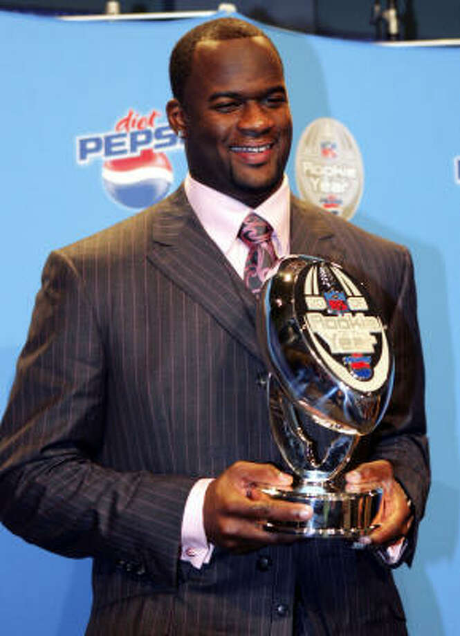 2007After living up to his NFL expectations in 2006, Vince Young earned five rookie of the year awards, including the fan-chosen Diet Pepsi Rookie of the Year. Photo: Jed Jacobsohn, Getty Images