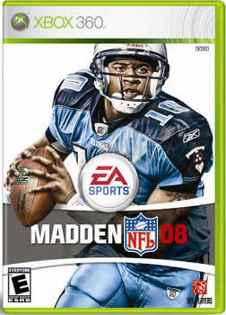 2007 Vince Young made a risky move by gracing the cover of EA Sports' Madden 2008. In recent history, players appearing on the covers have been ''jinxed'' the following season. Photo: EA Sports